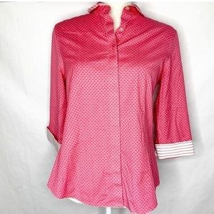 Talbots Pink Button Down Shirt Wrinkle Resistant